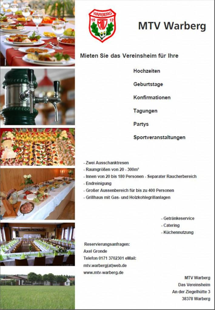 Werbung Sportheim